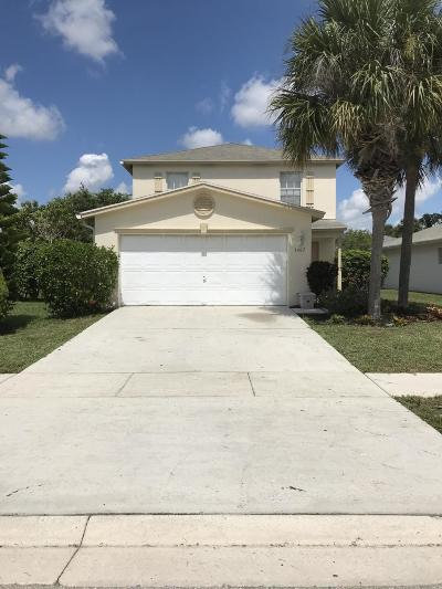 West Palm Beach Single Family Home For Sale: 1407 Red Apple Lane