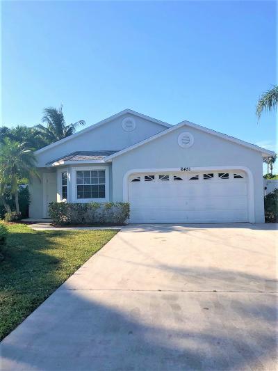 Jupiter Single Family Home For Sale: 6451 Foster Street