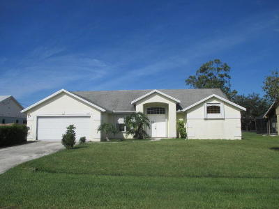 Port Saint Lucie Single Family Home Contingent: 2065 SE Mary Terrace