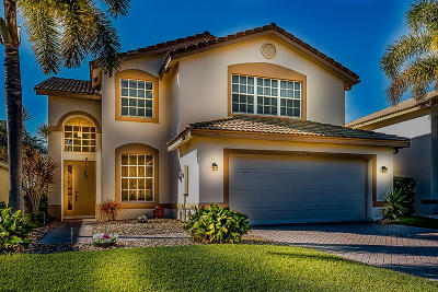 Boynton Beach Single Family Home For Sale: 7794 Colony Lake Drive