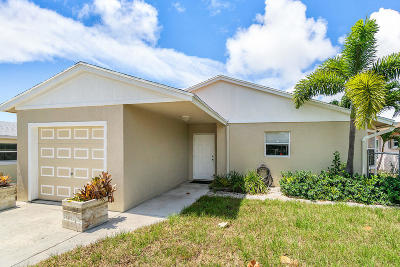 Lake Worth Single Family Home For Sale: 1602 18th Avenue