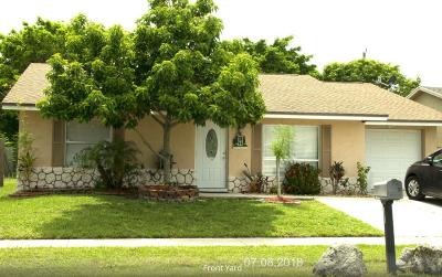 Lake Worth Single Family Home Contingent: 5896 Westfall Road