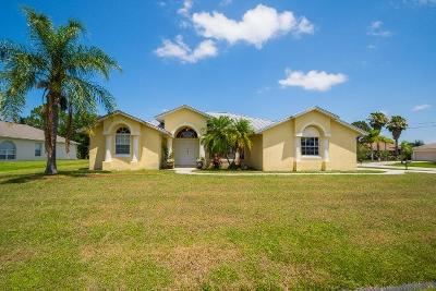 Port Saint Lucie Single Family Home For Auction: 5862 NW Cullom Circle