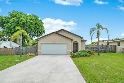 Boynton Beach Single Family Home For Sale: 415 SW 3rd Avenue