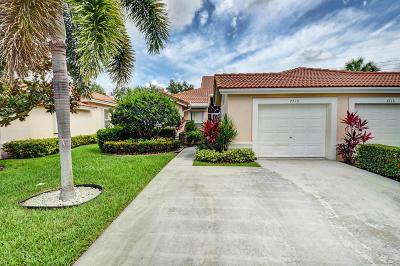 Boynton Beach Single Family Home For Sale: 7719 Majestic Palm Drive