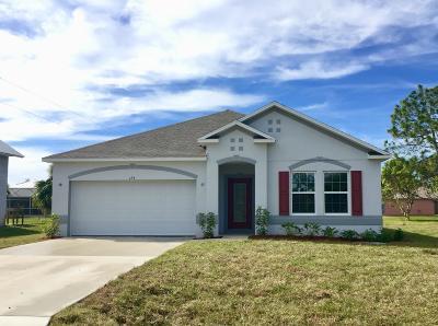 Port Saint Lucie, Saint Lucie West Single Family Home For Sale: 694 SW Empire Street