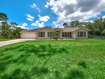 Loxahatchee Single Family Home For Sale: 17854 69th Street