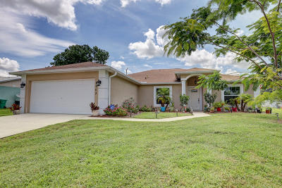 Port Saint Lucie Single Family Home For Sale: 2963 SW Moody Terrace