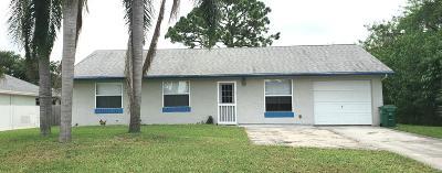 Port Saint Lucie Single Family Home For Sale: 587 SW Lakehurst Drive