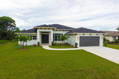 St Lucie County Single Family Home For Sale: 2755 SE Rawlings Road