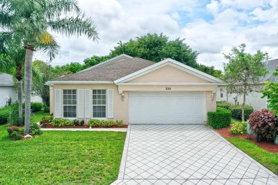 Port Saint Lucie Single Family Home For Sale: 350 SW North Shore Boulevard