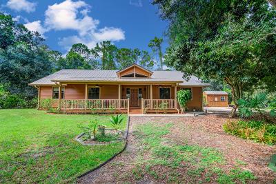 Loxahatchee Single Family Home Contingent: 17454 Orange Grove Boulevard