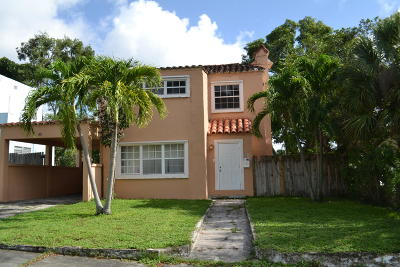 West Palm Beach Single Family Home For Sale: 821 38th Street