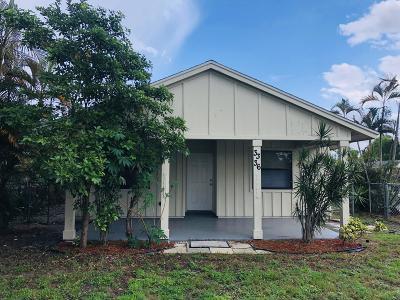 Lake Worth Single Family Home For Sale: 3336 Greene Avenue