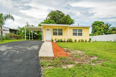 Lake Worth Single Family Home For Sale: 3530 Orange Street