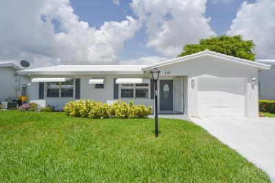 Boynton Beach, West Palm Beach Single Family Home For Sale: 119 SW 8th Court