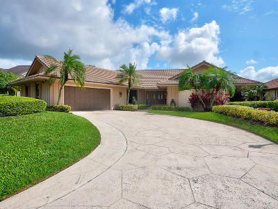 Palm Beach Gardens Single Family Home For Sale: 19 E Cambria Road