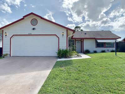 West Palm Beach Single Family Home For Sale: 5214 El Claro Circle