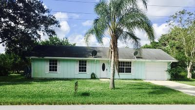 Stuart Single Family Home For Sale: 5542 SE Cable Drive