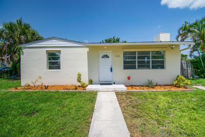 West Palm Beach Single Family Home For Sale: 2321 Robin Road