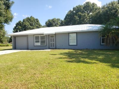 Okeechobee Single Family Home For Sale: 1088 SW 13th Street