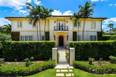 Palm Beach Single Family Home For Sale: 1451 Lake Way