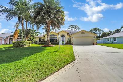 Port Saint Lucie Single Family Home For Sale: 6731 Dickinson Terrace