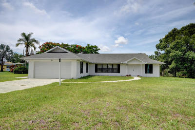 Port Saint Lucie Single Family Home For Sale: 600 SW Willows Avenue