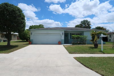 Boca Raton FL Single Family Home For Sale: $349,000
