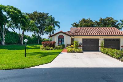 Boynton Beach Single Family Home For Sale: 5782 Brook Bound Lane #A