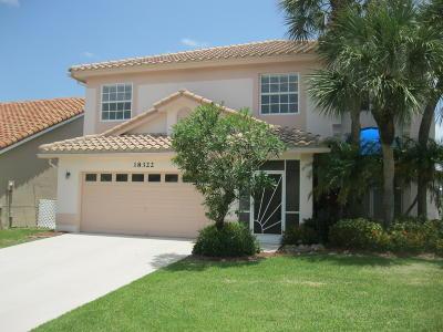 Boca Raton Single Family Home For Sale: 18322 Fresh Lake Way