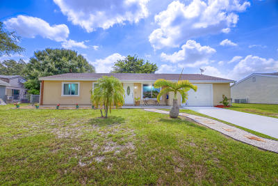 St Lucie County Single Family Home Contingent: 312 SW Kentwood Road