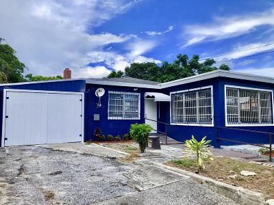 West Palm Beach Single Family Home For Sale: 1109 21st Street