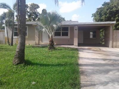 Boynton Beach Single Family Home For Sale: 40 S Atlantic Drive E,