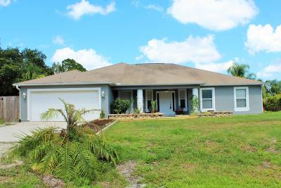 Vero Beach Single Family Home For Sale: 8336 96th Court