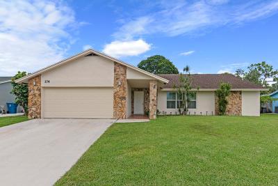 Royal Palm Beach Single Family Home For Sale: 174 Martin Circle