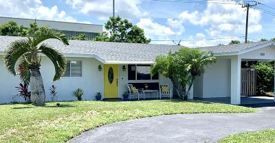 Pompano Beach Single Family Home For Sale: 4001 NE 17th Terrace