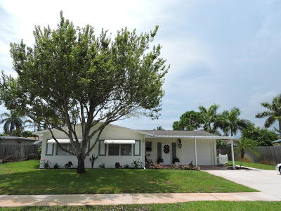 Boynton Beach Single Family Home Contingent: 1009 Coral Court