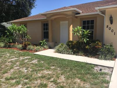 Fort Pierce Single Family Home For Sale: 8001 Fort Walton Avenue
