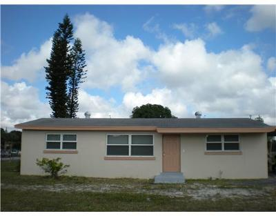 Lake Worth Single Family Home For Sale: 4050 Urquhart Street