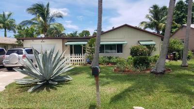 Lake Worth Single Family Home For Sale: 4340 Gulfstream Road