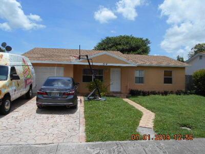 Broward County, Palm Beach County Single Family Home For Sale: 314 SW 78th Terrace