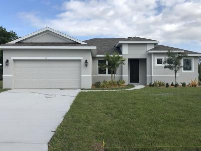 Port Saint Lucie Single Family Home For Sale: 117 SW Wakefield Circle S
