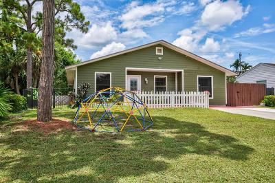 Jupiter Single Family Home For Sale: 6120 Wolfe Street