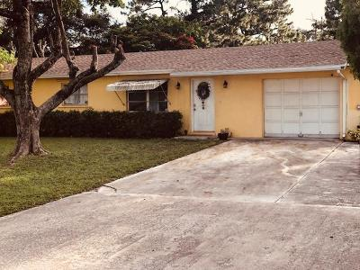 Lake Worth Single Family Home For Sale: 4615 Mathis Street
