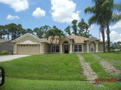 Port Saint Lucie Single Family Home Contingent: 3202 SW Foremost Drive