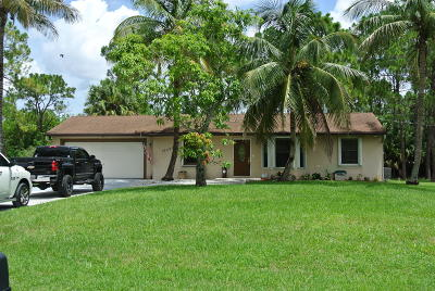 Loxahatchee Single Family Home Contingent: 15691 82nd Street