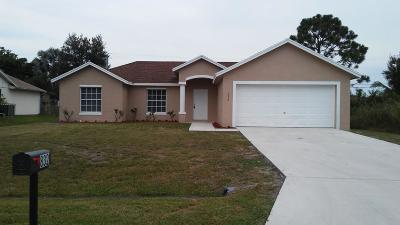 Port Saint Lucie Single Family Home For Sale: 832 SW Duncan Terrace