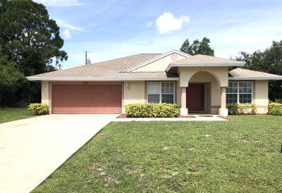 Port Saint Lucie Single Family Home For Sale: 3014 SW Ann Arbor Road