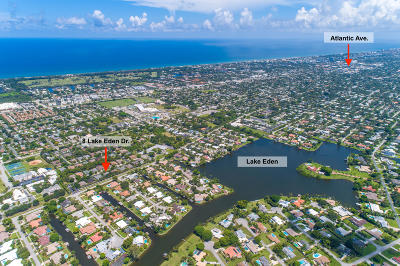 Boynton Beach Single Family Home For Sale: 8 Lake Eden Drive